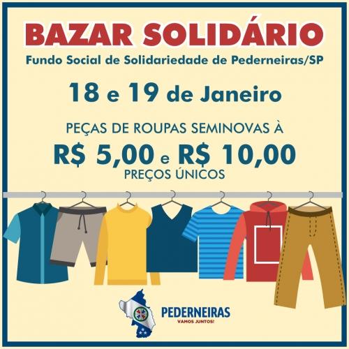 625b44b3d71 O Fundo Social de Solidariedade realizará amanhã